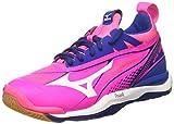 Mizuno Wave Mirage W, Chaussures de Gymnastique Femme, Rose Pink Glo White True Blue, 44 EU
