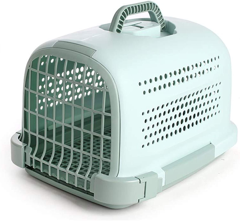ventas directas de fábrica WAXDEOLM Portable Plastic Perro Gato Air Travel Box Pet Pet Pet Pet Cocherier Jaula Bolsa Mini cápsula,M,verde  mejor calidad mejor precio