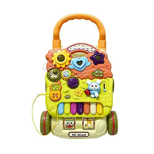 Buy Discount Tuuertge Stand Learning Walker Baby Walker Trolley Learning Walking Baby 6-18 Months Ch...