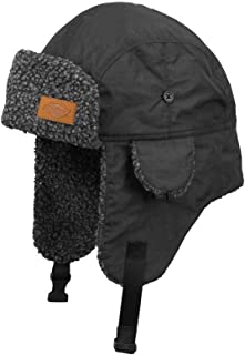 Dickies Men's Charcoal Buckle Sherpa Lined Trapper Hat