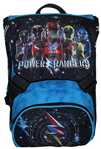 Mochila Extensible - Power Rangers - Cartera Escolar Azul Ne