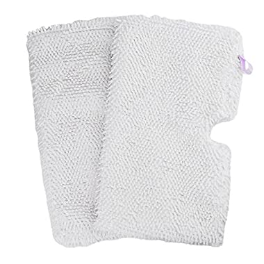 Flammi 2 Pack Washable Microfiber Mop Pads Cleaning Pads Replacement for Shark Steam Pocket Mops S3500 series S3501 S3601 S3550 S3901 S3801 SE450 S3801CO S3601D (White)