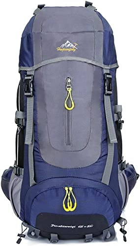 Sac à Dos d'alpinisme Unisexe Imperméable Et Léger 70L Sac à Dos Randonnée Imperméable Convient pour Voyage en Plein Air Randonnée Camping (Couleur   Bleu foncé, Taille   Taille Unique)