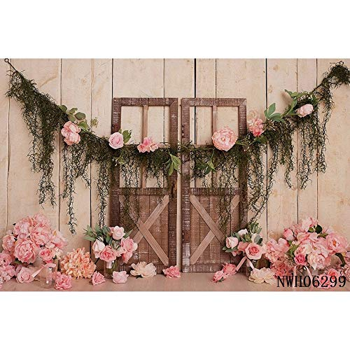 Wedding White Curtain Blossom Floral Garland Wall Party Photography Backgrounds Decoration Backdrops For Photo Studio A29 9x6ft/2.7x1.8m
