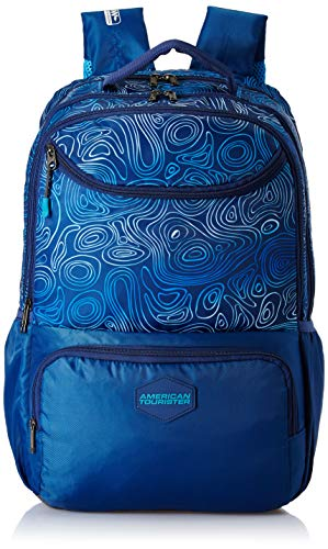 American Tourister Turf 32 Ltrs Blue Casual Backpack (FF0 (0) 01 001)