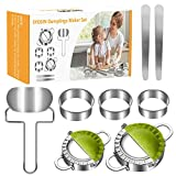 SYOSIN Dumplings Maker,8 Packs Empanada Press Mold for cooking delicious dumpling and ravioli,Stainless Steel Dumpling Mold