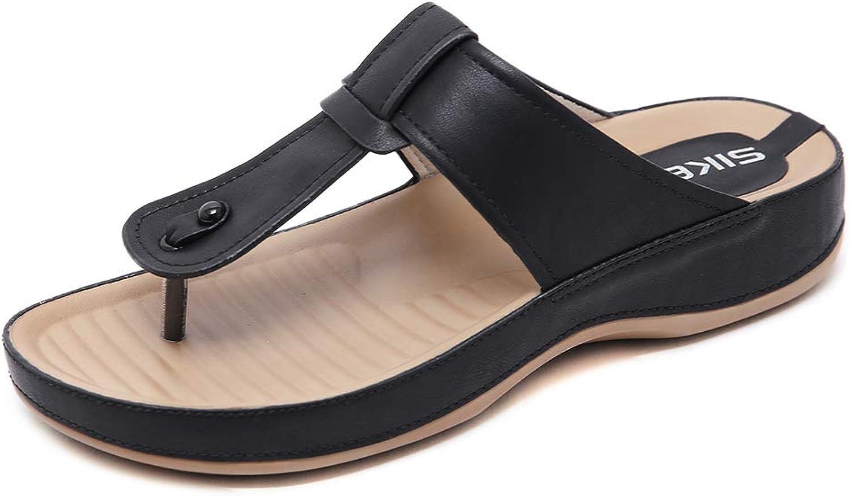 AGOWOO Womens Zandalias Open Toe Platform Maternity Mules Sandals