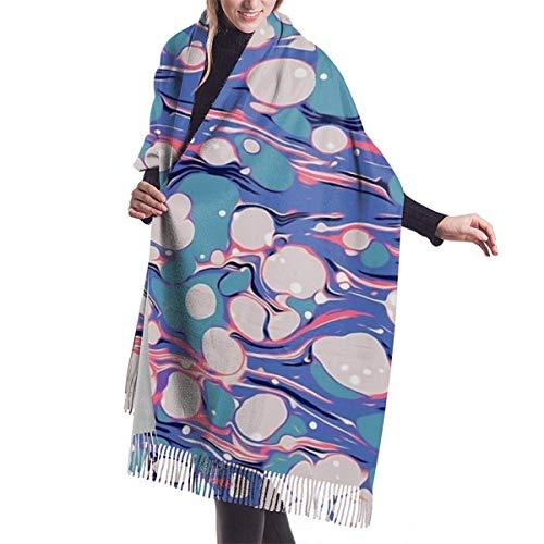 Hip Hop Love Psychedelic Purple Marble Paper Surf Pepe Psyche Winter Scarf Shawl Wraps Soft Warm Blanket Bufandas para mujeres 77 x 27 pulgadas / 192 x 68 cm