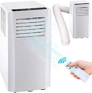 Aire acondicionado portátil 9000 BTU 2,6 kW Climatizador caliente frío gas natural R290 aire acondicionado función ventilador deshumidificador temporizador y mando a distancia para ambientes