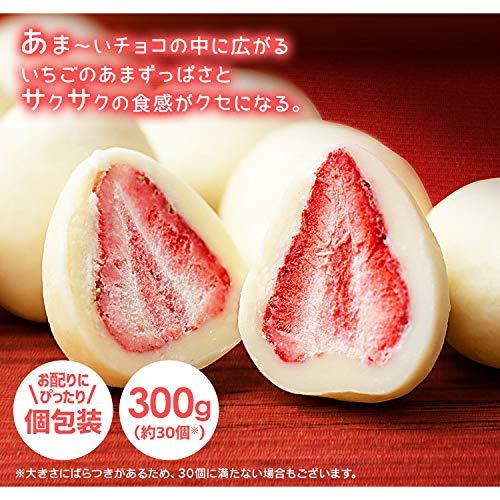 アイリスプラザ まるごといちごチョコ ホワイトチョコがけ 30個 1 グラム