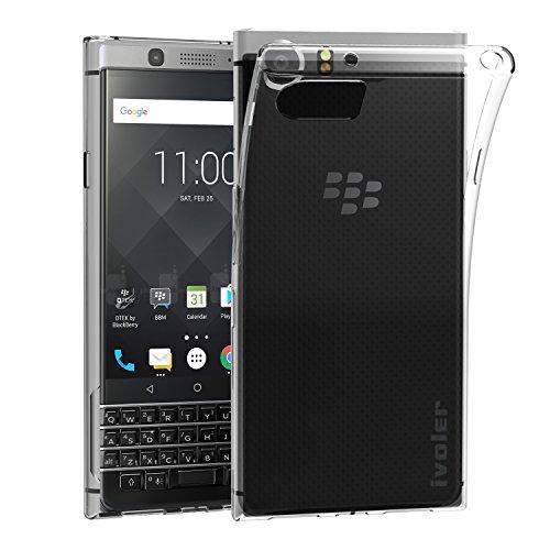 ivoler Hülle Hülle Kompatibel für BlackBerry KEYone, Premium Transparent Klare Tasche Schutzhülle Weiche TPU Silikon Gel Handyhülle Schmaler Cover