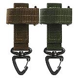 Generic 2 guantes multifuncionales con gancho de seguridad, para exteriores,...
