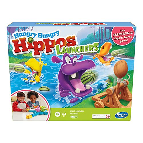 Hungry Hungry Hippos Launchers Game for Children Aged 4 and Up, Electronic...