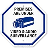 SmartSign 'Premises Are Under Video & Audio Surveillance' Sign | 12' x 12' Aluminum
