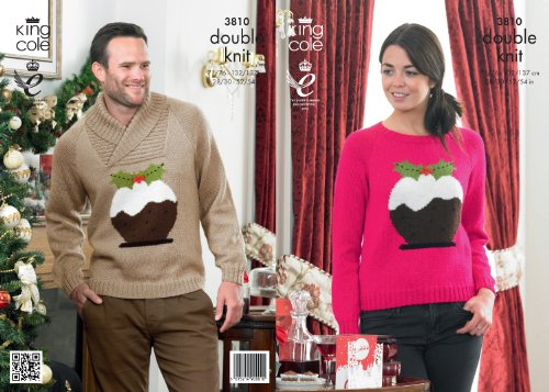King Cole DK Knitting Pattern - 3810 Christmas Sweaters by King Cole