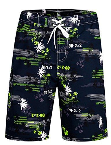 APTRO Herren Slim Fit Freizeit Shorts Casual Mode Urlaub Strand-Shorts Sommer Kokosnuss Palmen Mit Innenslip, 1526 Gelb, XL