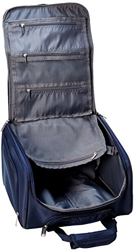 AmazonBasics Underseat Carry-On Rolling Travel Luggage Bag, 14-Inches - Navy Blue
