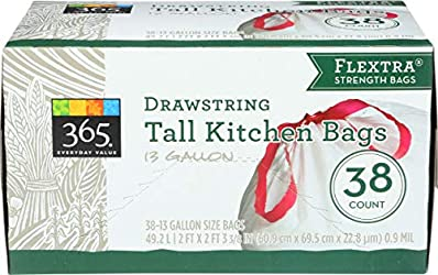 365 Everyday Value, Tall Kitchen Bags (13 Gallon), 38 ct