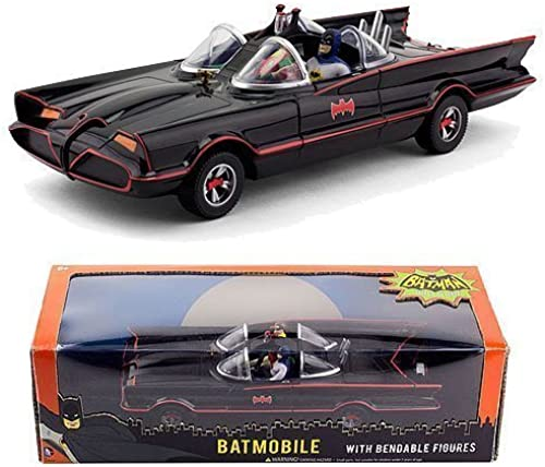 1966 Batmobile W Batman & Robin Mini Bendable Figs by NJ Croce by NJ Croce