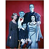 The Munsters 8 X 10 Cast Photo Herman, Lily, Grandpa, Eddie & Marilyn Munster Red Background Pose 1 kn