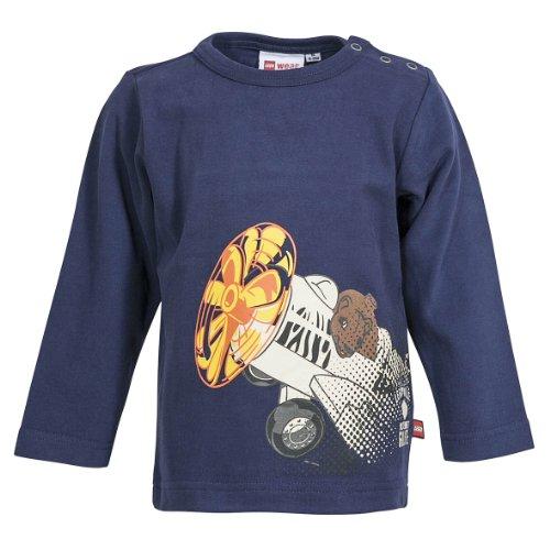 LEGO Wear T-shirt Col ras du cou Manches longues Bb garon - Bleu - Blau (581 DARK BLUE) - FR : 18 mois (Taille fabricant : 86)