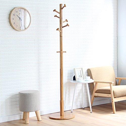 & Porte-manteau simple Casquette Hat Rack Support en bambou, Hall Tree avec 9 crochets Support d'affichage Simple Assembly Of Coat Shelves Portemanteau (Size : 172 * 40CM)