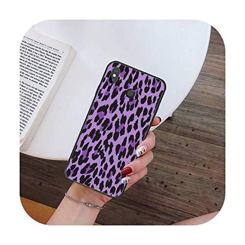 Hopereo Moda Sexy Leopard Print Panther teléfono caso para Xiaomi para Redmi 4X 5Plus 6A 7 7A 8 8A para Redmi Note 4 5 7 8 9 Nota 8T 8Pro 9Pro-A14-Para Redmi Note7
