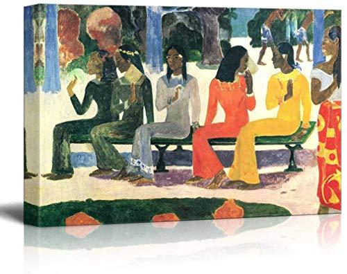 Ta Matete, 1892 - Impresión en lienzo Arte de la pared Reproducción famosa de pintura al óleo-18×12inch