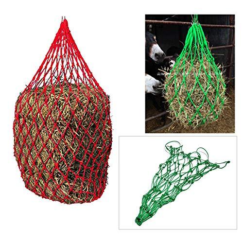 Bolsa de alimentación para Caballos/Bolsa de heno Bolsa de Red Duradera para heno de alimentación