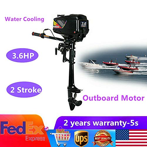 Best Deals! DONSU 3.6HP 2 Stroke Heavy Duty Outboard Motor Boat Engine w/Water Cooling System Inflat...