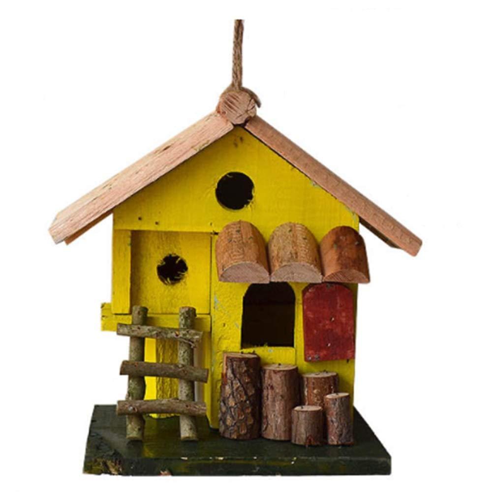 Casa Del Pájaro Creative Spire Casa De Madera For Pájaros Alzado Exterior Patio Inglés Jardín Chozas