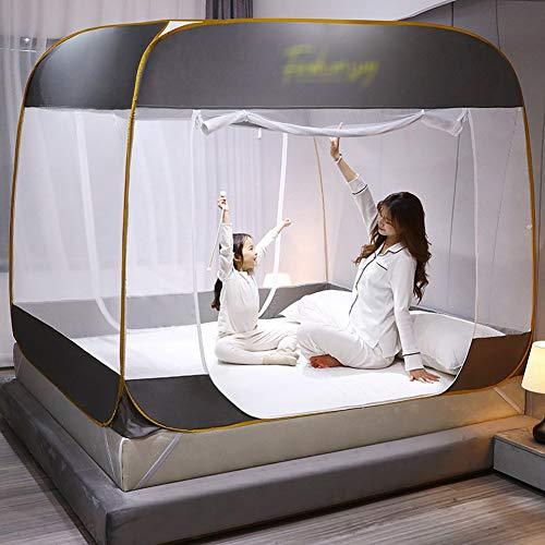 CHL ménage de Pliage moustiquaire Extra Large entrée 100% de Fibres de Polyester pour Un lit Simple, adapté pour Voyage, Le Camping