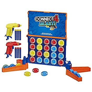 Connect 4 Blast! Game  Powered by Nerf  Includes Nerf Blasters and Nerf Foam Darts  Game for Kids Ages 8 and up