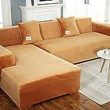 Sofá de felpa de gama alta Funda de sofá elástica Funda de sofá en forma de L Funda de sofá antiarrugas Sillón de dos plazas 1 2 3 4 Fundas de sofá de 4 plazas Protector-a 3 plazas 190 ~ 230cm (75-91