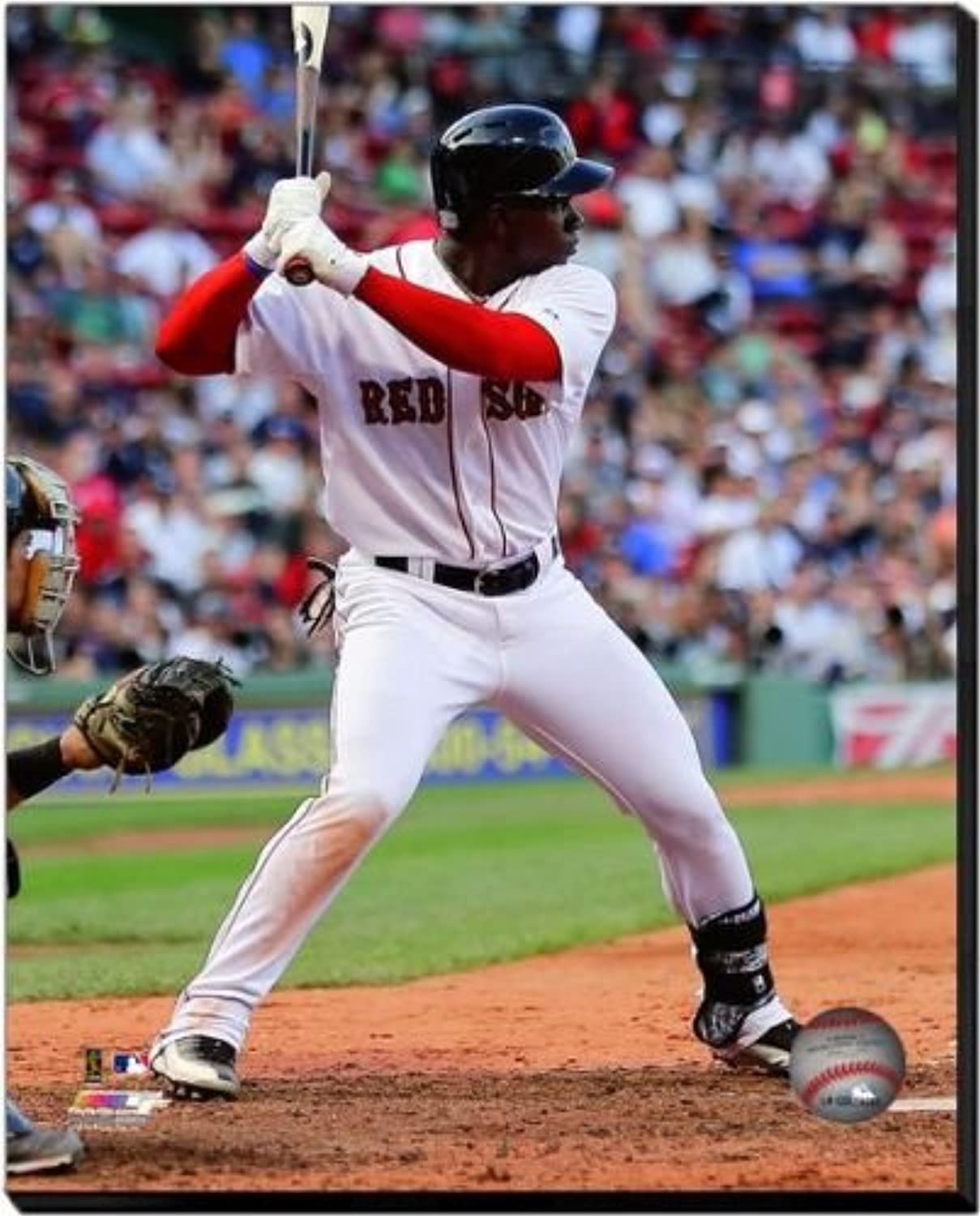 Boston Red Sox Rusney Castillo 2014 Action 16x20 Stretched Canvas