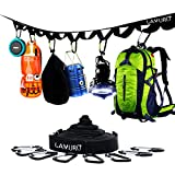 LAMURO Campsite or Garden Supplies Storage Strap with 8 Hooks | Hanging Your Camping...