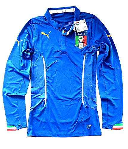 PUMA Italia Jersey Authentic Italy Home Player Issue Official 2014 World Cup Calcio Jersey Uomo M