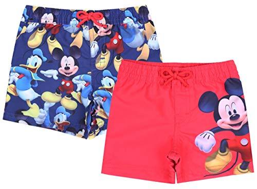 2X Short Bleu Marine Mickey Disney 0-3 Mois