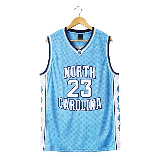 Jordan # 23 North Carolina Basketball Jersey para Hombre, Retro Gym Vest Sports Blue Top, Neutral Camiseta de Baloncesto de Malla Bordada sin Mangas (S-2XL) Blue-XL