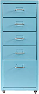 Armoires Classeur à tiroirs Basse A4 de Stockage Bureau Données Mobiles (Color : Blue, Size : 0.7mm)