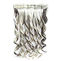 かつら ヘアエクステンションウィッグの5つのクリップワンピースクリップ 女装 ウィッグ 黒髪 ウィッグ ウィッグ 前髪 (Color : 5)