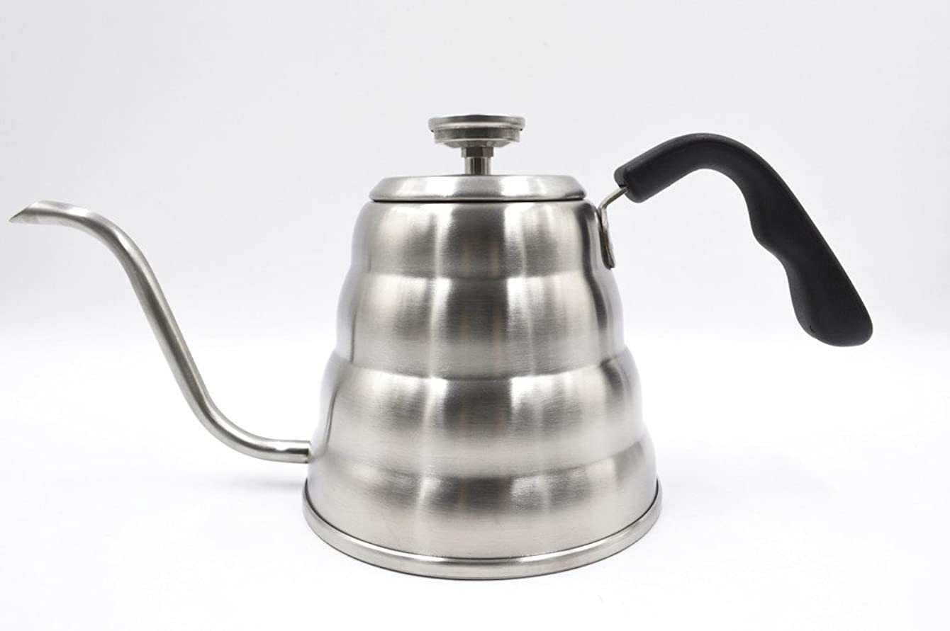 Grind House Pour Over Coffee and Tea Kettle With Built In Thermometer 1.2L