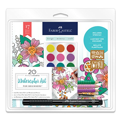 Faber-Castell Watercolor Art for Beginners - 17 Piece Water Color Set