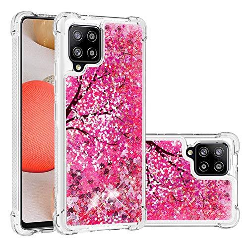 Funda para Samsung Galaxy A42 5G, funda para Galaxy A42 5G, purpurina 3D líquida personalizada de silicona transparente a prueba de golpes para Samsung A42 5G (2020)-4