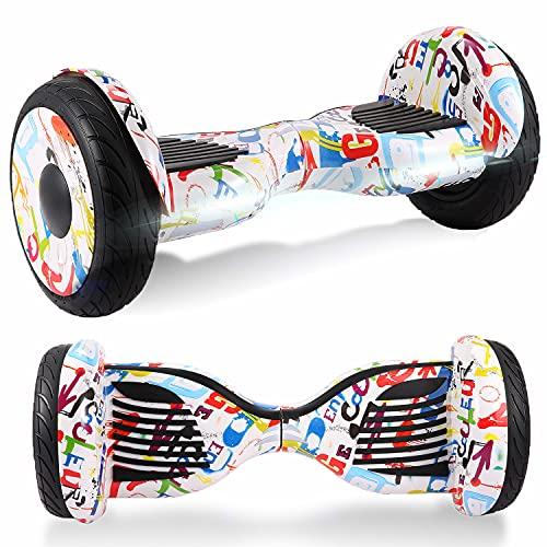 Windway Hoverboard 10'' Patinete Eléctrico Bluetooth Monopatín Scooter autobalanceado, Ruedas de Skate con luz LED, Motor Bluetooth de 700W para niños y Adultos (Cielo púrpura)