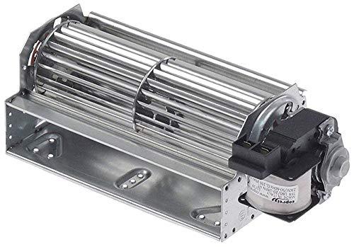 COPREL FFR Querstromlüfter Anschluss Flachstecker 6,3mm universal 20mm Lager Silikon 25W rechts 230V/50-60Hz Walze 60x180mm