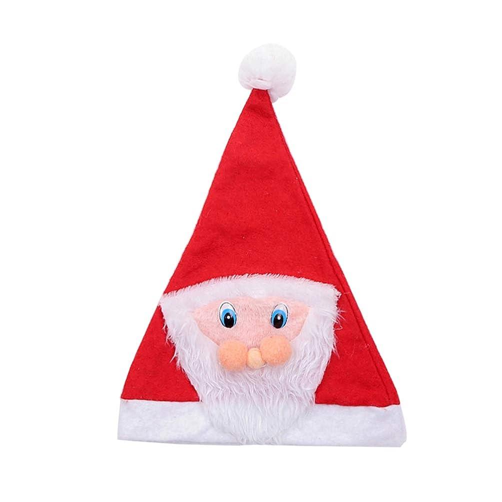 翻訳もし改革Amosfun サンタクロース帽子メリークリスマススパンコールキャップクリスマスエルフ帽子かぶと頭飾りパーティー帽子装飾