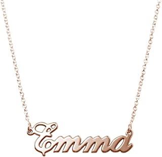 MyNameNecklace Name Necklaces - Personalized Engraved Name Pendant Jewelry Sterling Silver 925 & Gold Plating - Nameplate Necklace Christmas Gift for Her