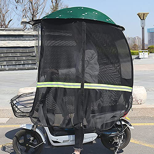 ZWJABYY Paraguas Scooter,Cubierta Impermeable A La Lluvia para Scooter De Movilidad,Cubierta para Sombrilla para Capota De BateríA para AutomóVil,Visera Impermeable para El Sol,Green-B