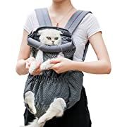 Coppthinktu Dog Carrier Backpack - Legs Out Front-Facing Dog Hiking Backpack for Small Medium Large Dogs Cats, Hands-Free Dog Travel Backpack Safe for Walking Hiking Bike and Motorcycle
